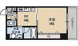 ノブパシオン北梅田[6階]の間取り