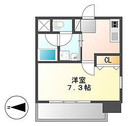 クレジデンス新栄[7階]の間取り