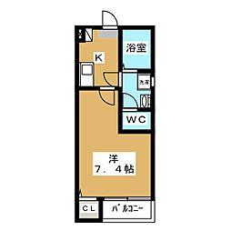 クレフラスト喜多山駅前A棟[1階]の間取り