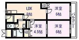 メゾンドルチェ伸和[4階]の間取り