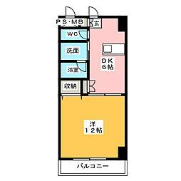 MPX番館(エムピージュウバンカン)[3階]の間取り