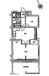 鉄村マンション[1階]の間取り