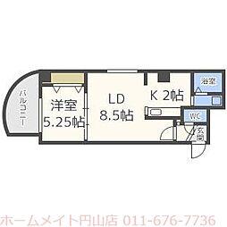 パークヒルズU・D・A[8階]の間取り