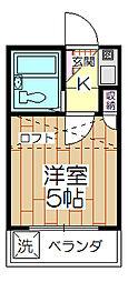 ガーデンウメダ[206号室]の間取り