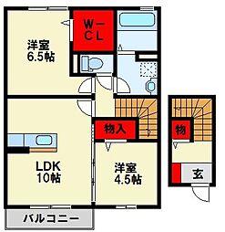 カーサフローレ[2階]の間取り