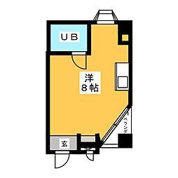 キャティア内田橋[4階]の間取り