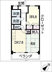 VERDE COLLINA[5階]の間取り