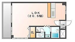 アドライフコーポ[3階]の間取り