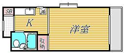 ハイタウン新丸子[5階]の間取り