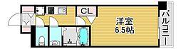ファステートOSAKAシティゲート 3階1Kの間取り
