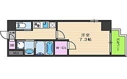 JR大阪環状線 天満駅 徒歩8分の賃貸マンション 5階1Kの間取り