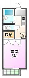 パラシオン田中[1階]の間取り