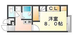広島県福山市本郷町の賃貸アパートの間取り
