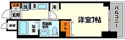 大阪府大阪市東淀川区東中島3丁目の賃貸マンションの間取り