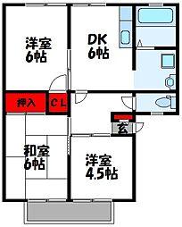 サンビレッジ花鶴[2階]の間取り
