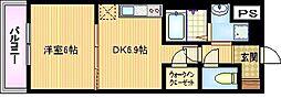 大阪府大阪市城東区野江3丁目の賃貸マンションの間取り