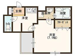 JR大阪環状線 玉造駅 徒歩8分の賃貸マンション 9階1Kの間取り