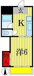 三上マンション[1階]の間取り