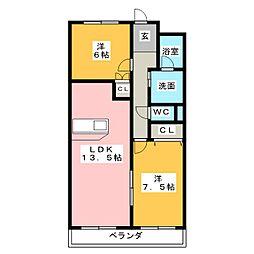サンパークSHIMADA[1階]の間取り