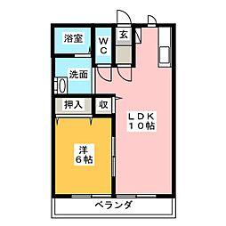 プチハウスナカヒラ[2階]の間取り