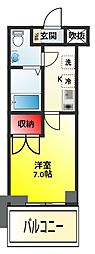 パークキューブ北松戸[1401号室]の間取り