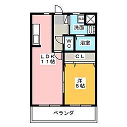 アーバンヒルズ富士見台[1階]の間取り