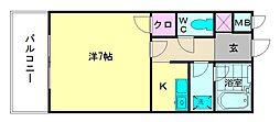 ピュアドームグランディ博多[6階]の間取り