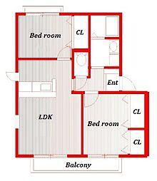 フォレストメゾン[1階]の間取り