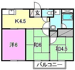 コーポ安田[102 号室号室]の間取り