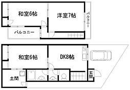 [一戸建] 京都府京都市南区久世上久世町 の賃貸【/】の間取り