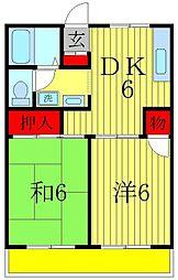 エステートピア新松戸1[1階]の間取り