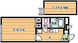 福岡県北九州市小倉南区徳力3丁目の賃貸アパートの間取り