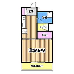 粟沢マンション[4階]の間取り