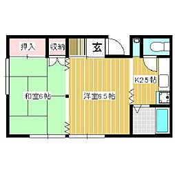 ヤマギシハイツ[2階]の間取り