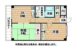 福岡県北九州市小倉北区足原2丁目の賃貸マンションの間取り