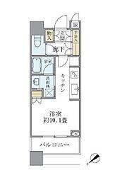 JR山手線 目黒駅 徒歩2分の賃貸マンション 9階ワンルームの間取り