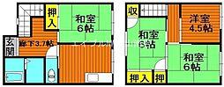[一戸建] 岡山県岡山市北区野田3丁目 の賃貸【/】の間取り