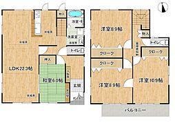 LDK22.3帖2階洋室も8帖以上で広々