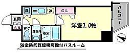 ファーストステージ江戸堀パークサイド 10階1Kの間取り