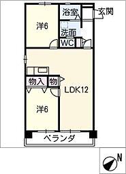第二若葉ビル[2階]の間取り