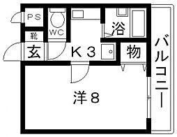 トレイズII[402号室号室]の間取り