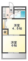 アルカディアマーユII[3階]の間取り