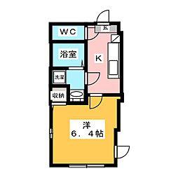北区豊島1丁目新築仮称 4階1Kの間取り