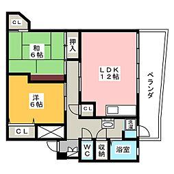 第2猫ヶ洞マンション[2階]の間取り