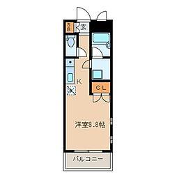 E-FLAT[208号室]の間取り