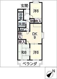 ファミーユ浅井[1階]の間取り