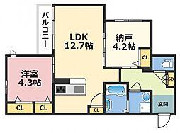 (仮称)東大阪市シャーメゾン上小阪3丁目[102号室号室]の間取り