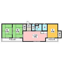 長崎屋ビル[6階]の間取り