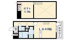 プレジール三ノ宮3[907号室]の間取り
