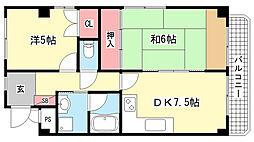 シャトードール2[404号室]の間取り